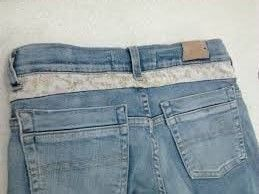 Aumento de cós baixo, aumentar cós de calça jeans, deixar o cós da calça maior