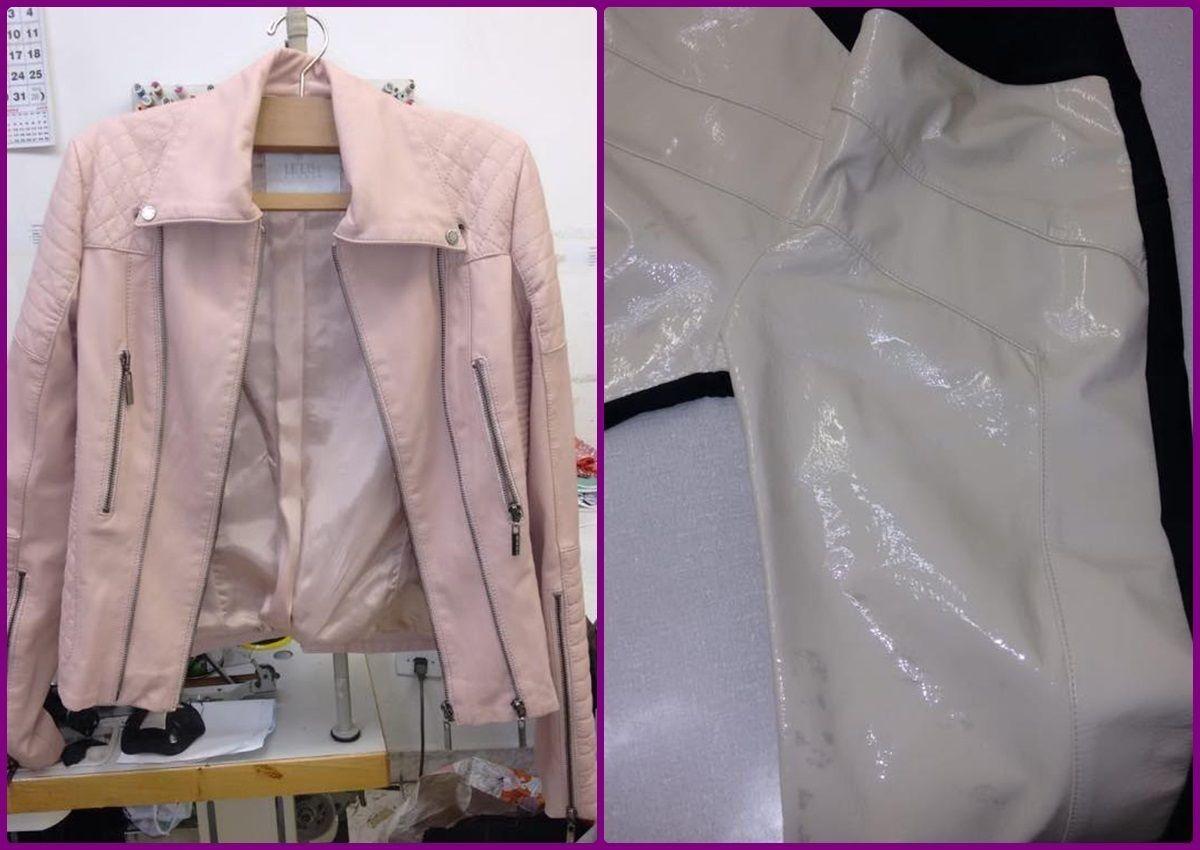 Restaurar couro da jaqueta na costureira