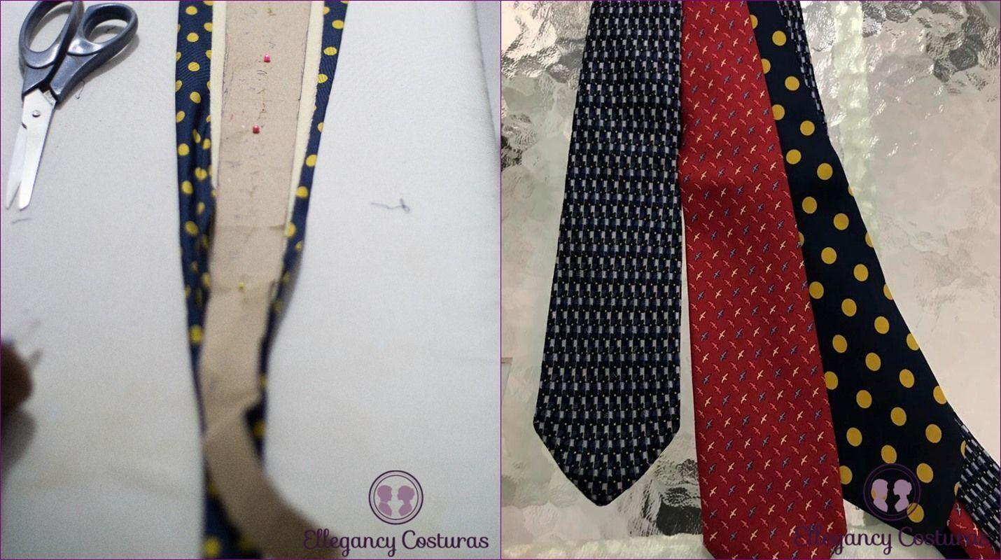Personalizar gravatas deixando a gravata mais fina