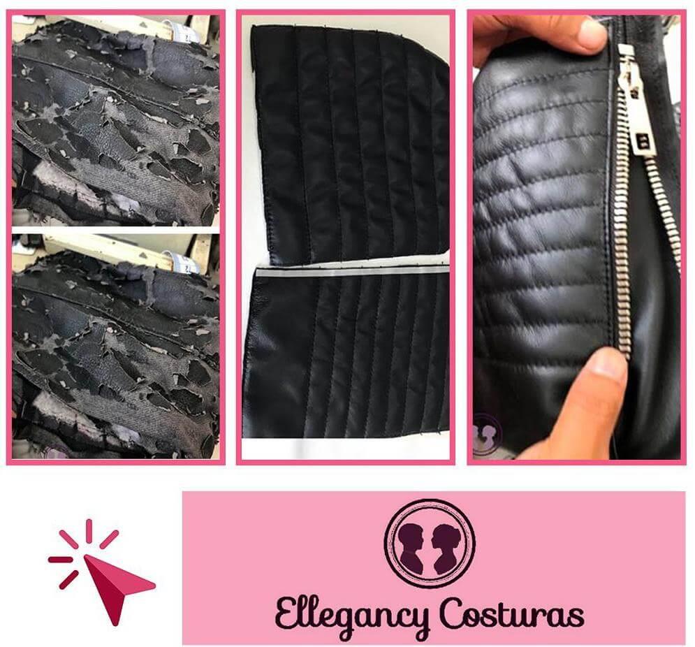 Restaurar casaco de couro sintético descascando