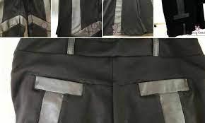 calça de couro restaurada