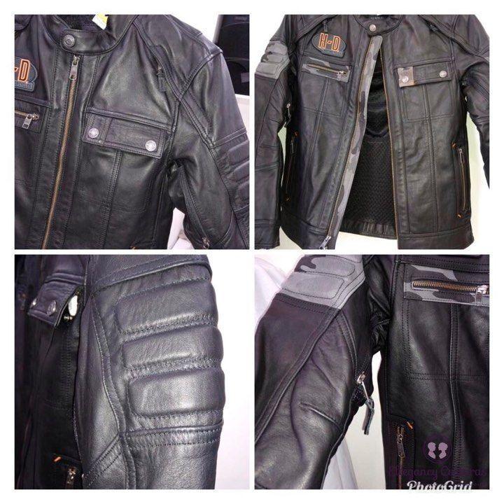 customizar-jaqueta-harley-davidson-com-couro-cinza-nos-ombros-e-peitoral-3102437