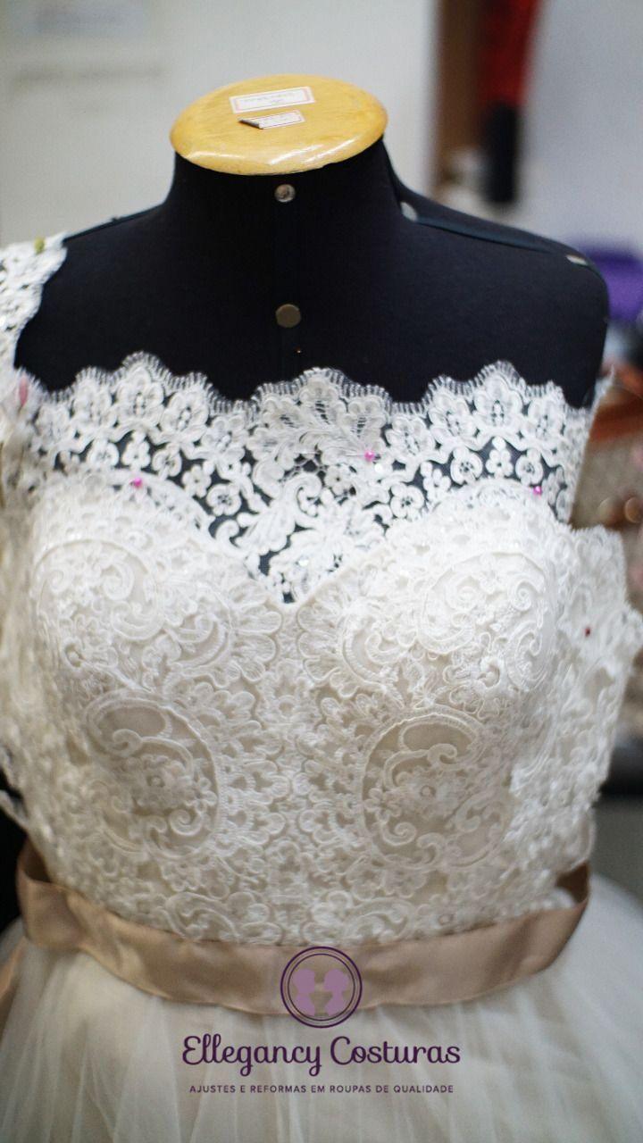 Aumentar ou diminuir decote de vestido de noiva