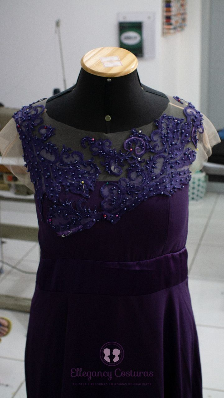 Customizar vestido de festa com renda