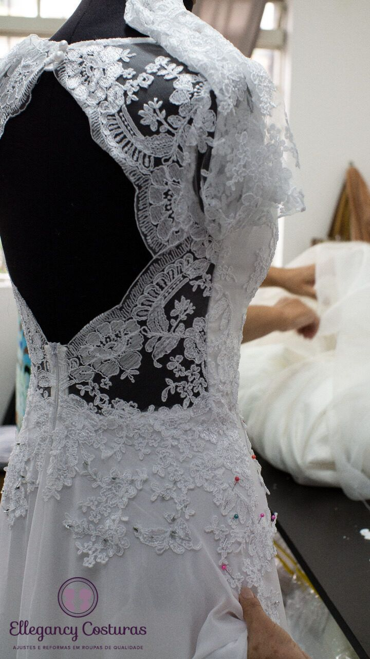 Modificar decote de vestido de noiva