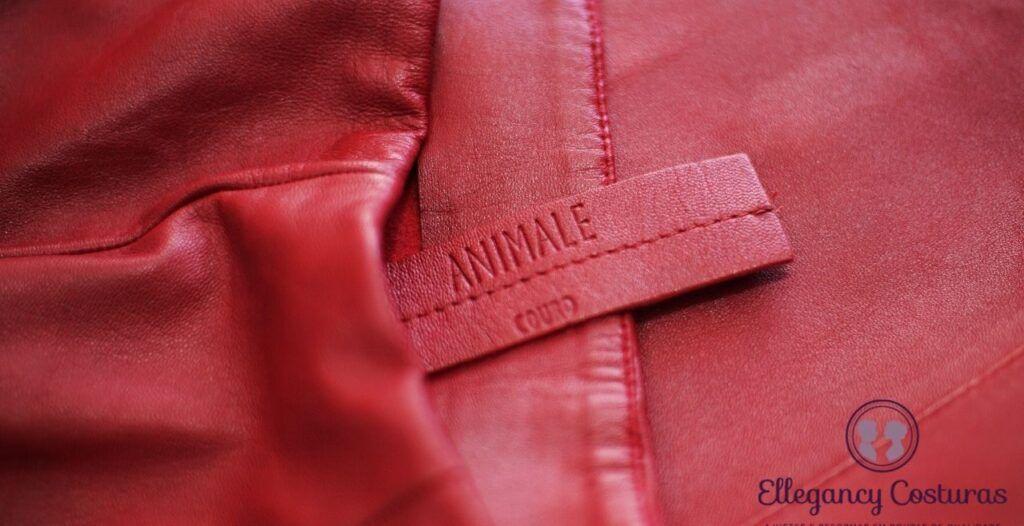 calça de couro animale