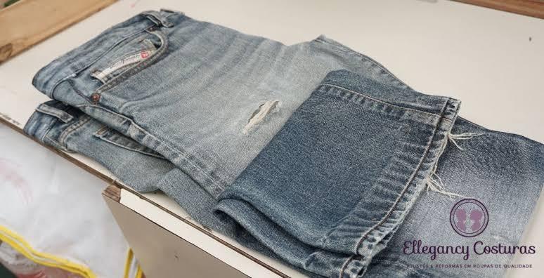 A costureira danificou a barra da minha calça