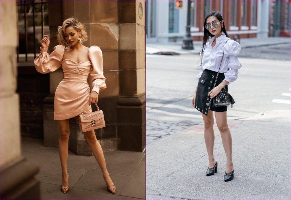 A tendência de moda a manga bufante