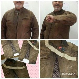 Restauração em roupas de couro