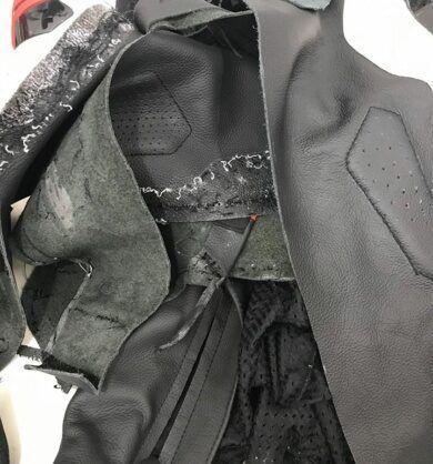 Jaqueta de motociclista para restaurar