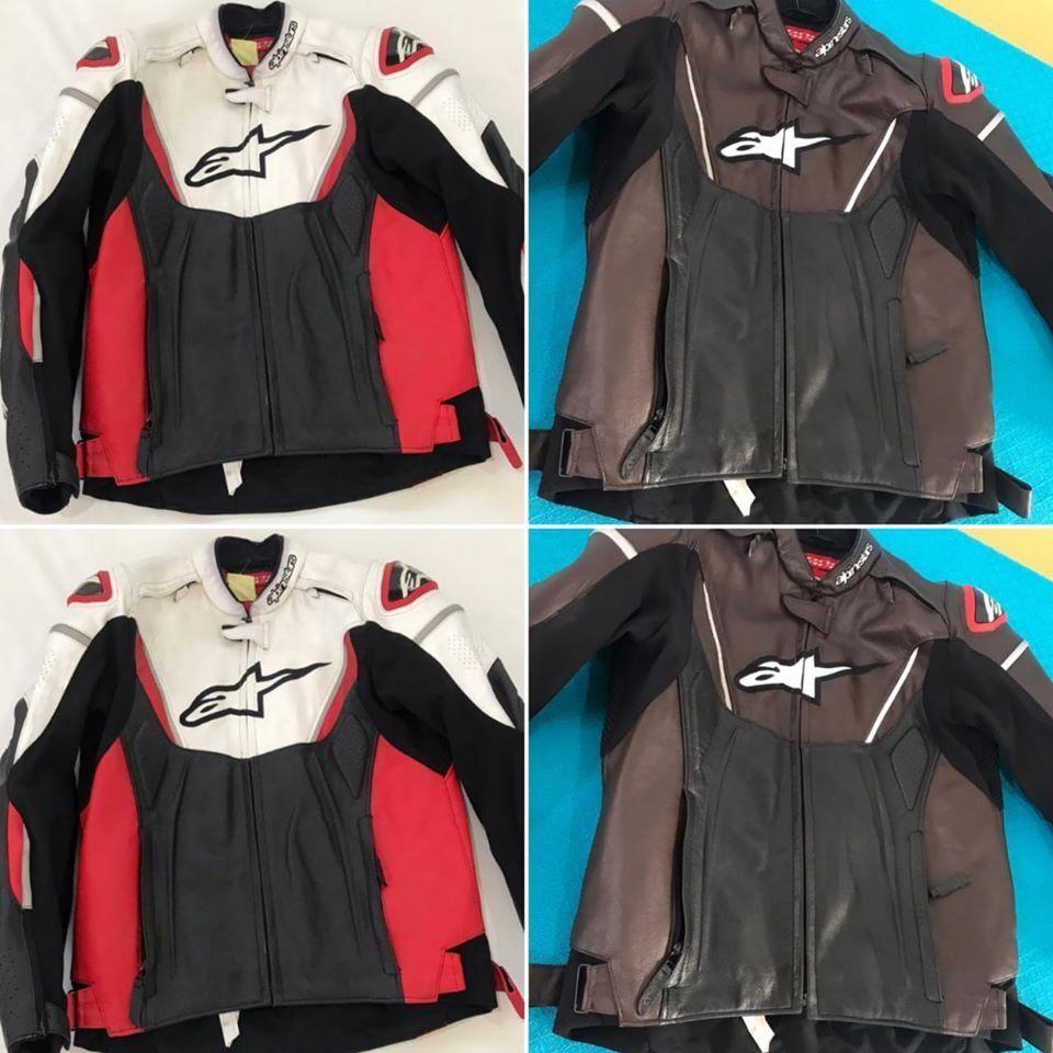 Reparos em couro de jaquetas de frio e roupas de motociclista