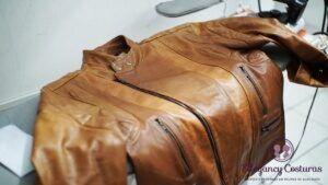 Consertar jaqueta de couro
