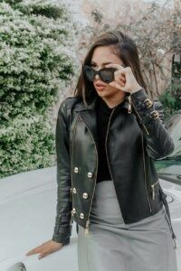 Jaqueta de couro perfeita para o inverno