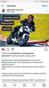 Macacão de motociclista forza