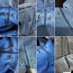 Consertar calça jeans rasgada entre as coxas