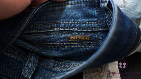 Diminuir tamanho de calça jeans da Diesel