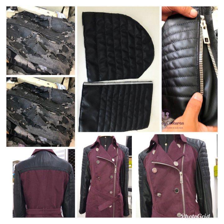 Pintura em bolsas de couro e pintura em jaquetas de couro