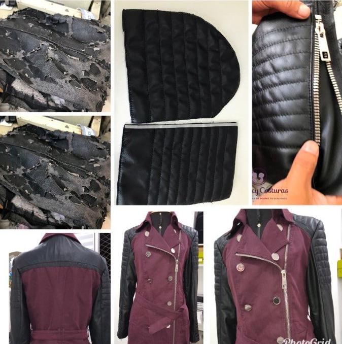 Aplicação de bordados e pedrarias em vestidos