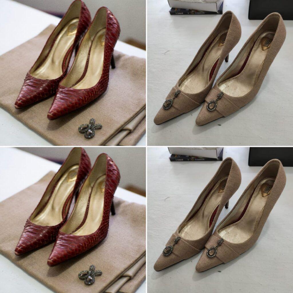 Forração de sapatos, bolsas e cintos