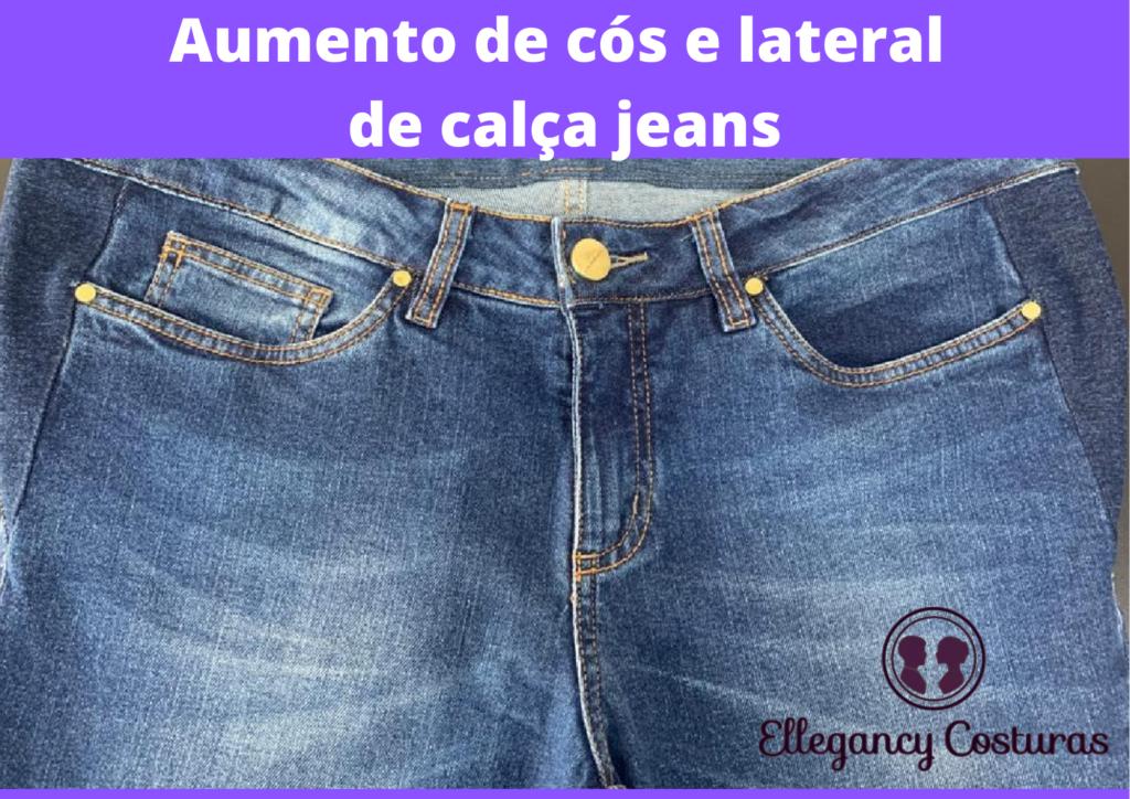 Aumento de cos e lateral de calca jeans
