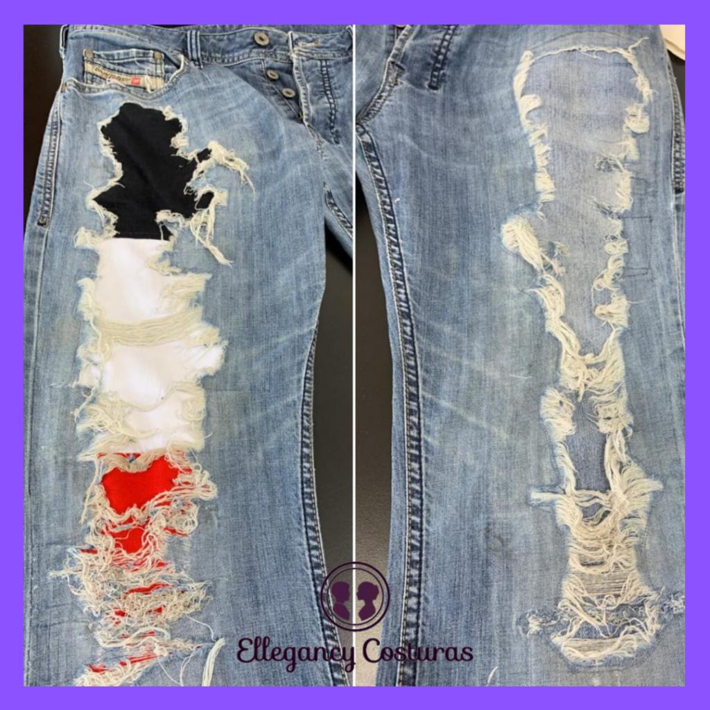 Customizar calca tradicional em destroyed Sp