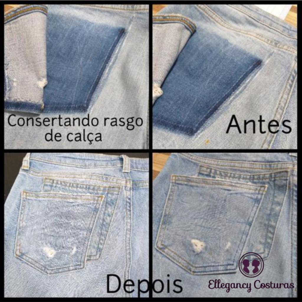 Restauracao de calca jeans