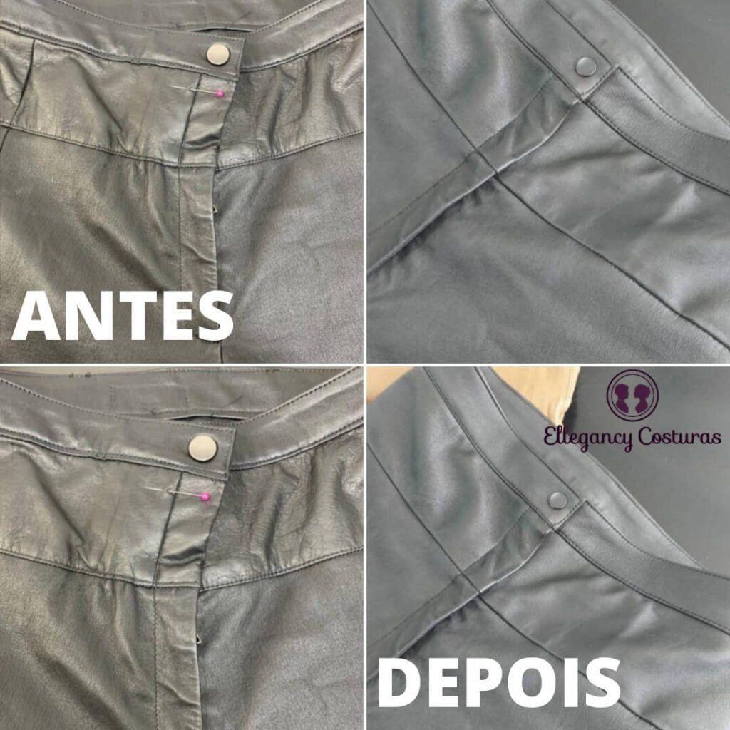restaurar calça de couro legítimo