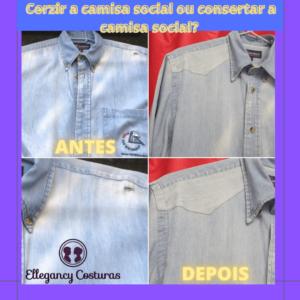 Cerzir a camisa social ou consertar a camisa social 1