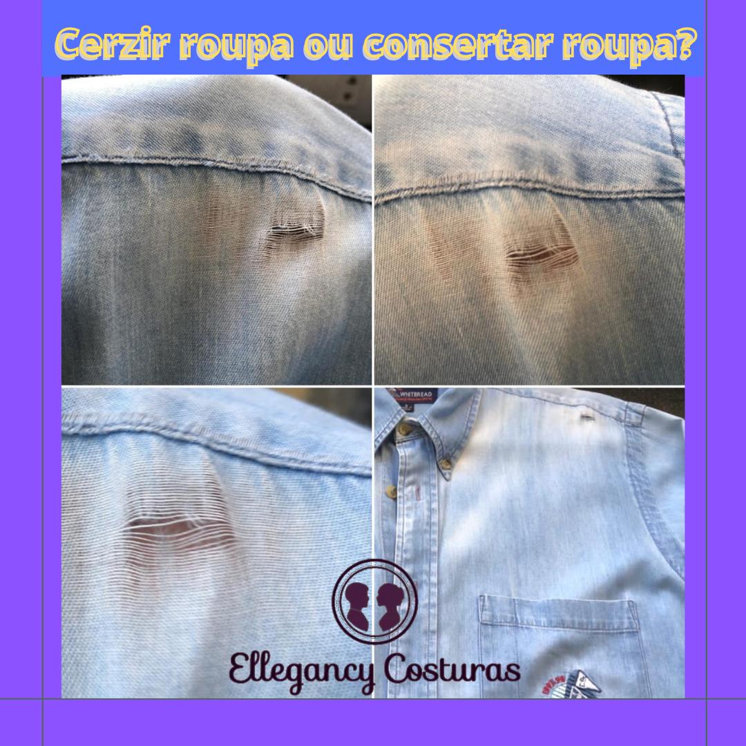Cerzir roupa ou consertar roupa