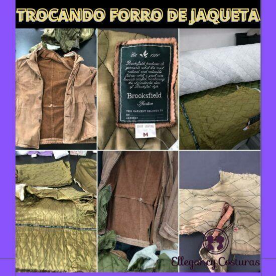 Troca de forro em Jaqueta de couro