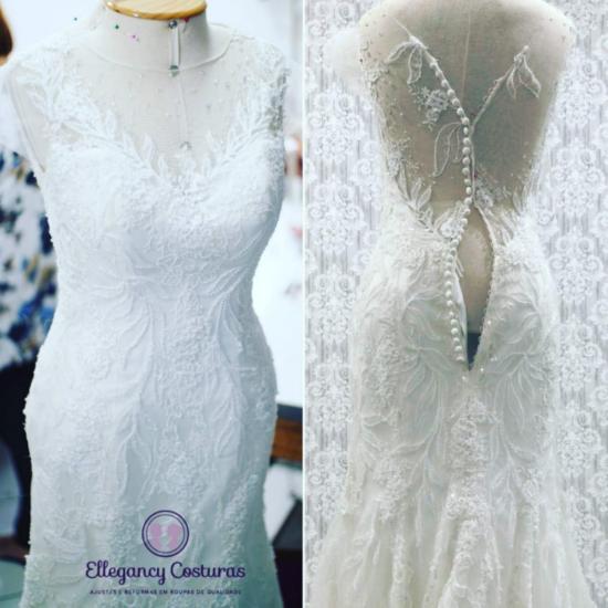 costureira de vestido de noiva