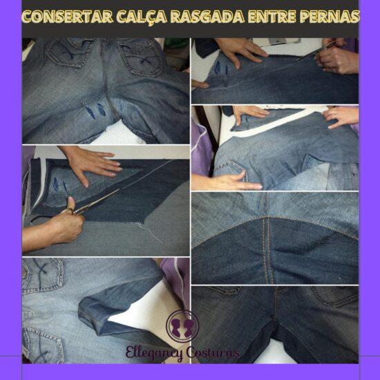 Como consertar calça jeans rasgada na coxa