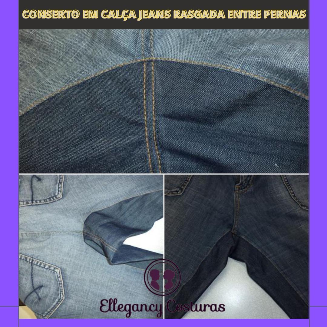 Como fazer remendo em calça jeans rasgado entre pernas
