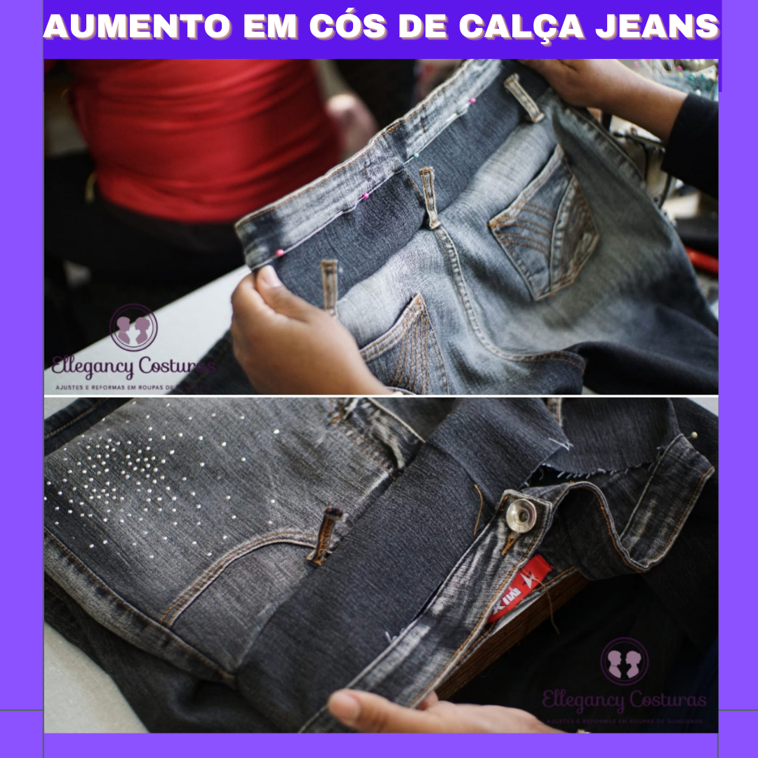E possivel aumentar cos de calca jeans