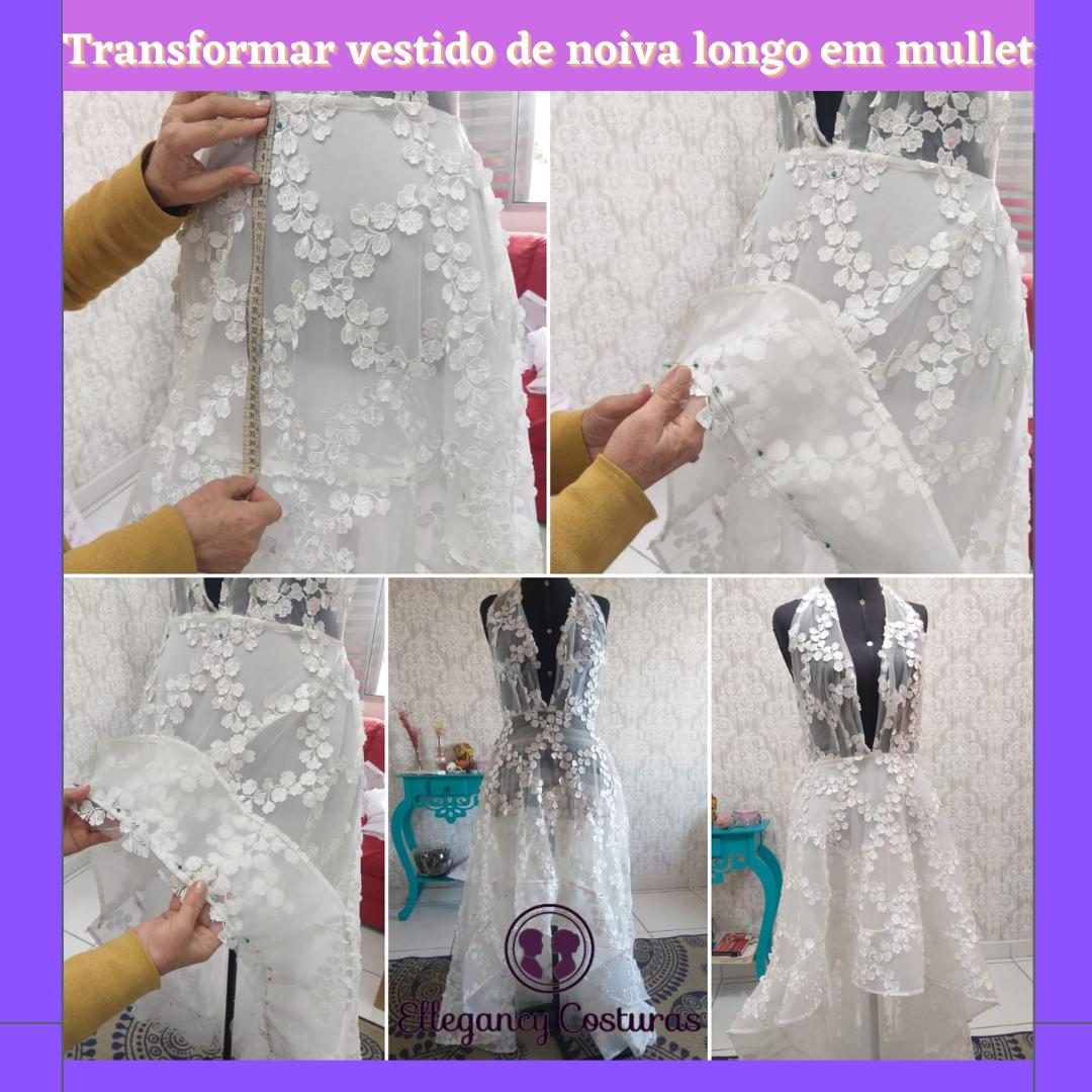 Transformar vestido de noiva longo em mullet 1