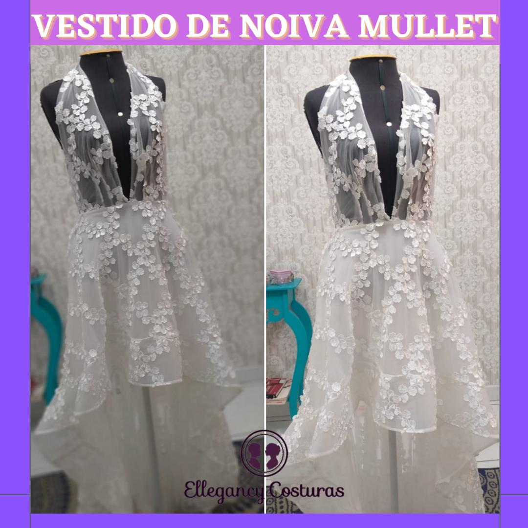 Transformar vestido de noiva longo em mullet 2