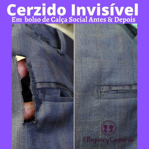 Cerzir roupa invisível