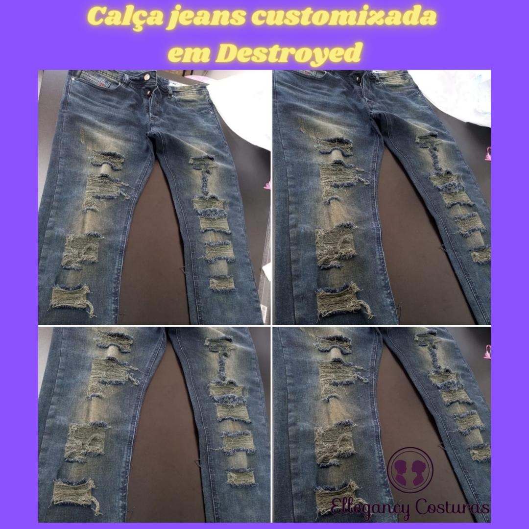 customizar calça jeans destroyed