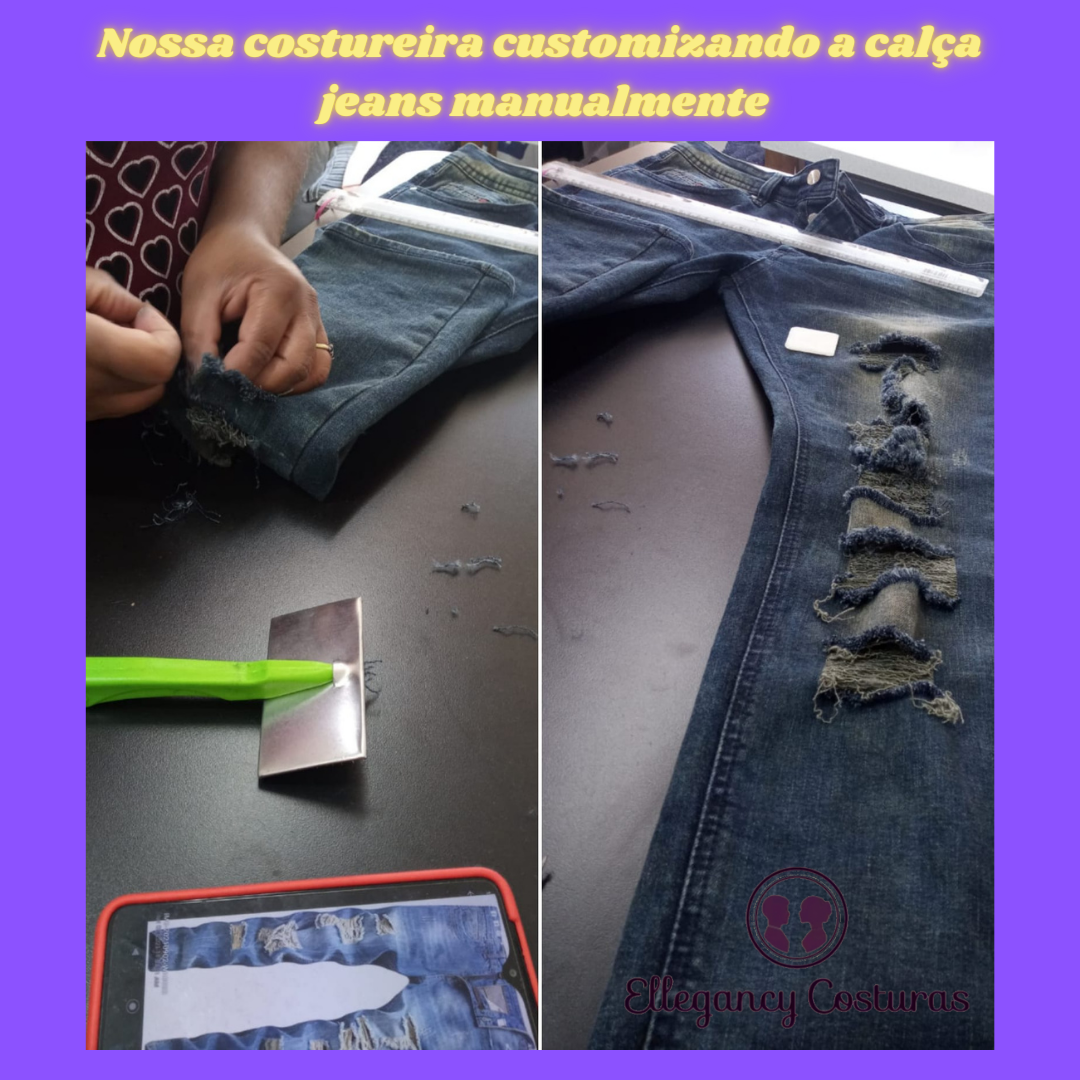 Customizar calca jeans destroyed 3
