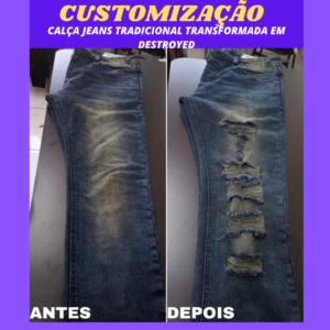 Customizar calca jeans destroyed