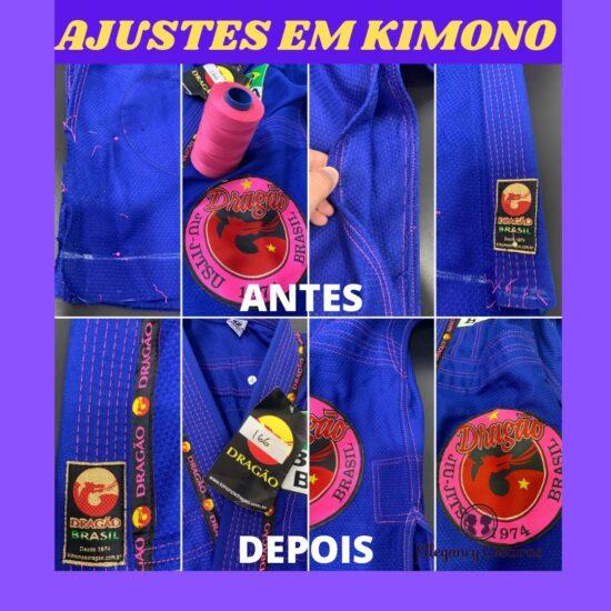 ajuste em kimono jiu jitsu