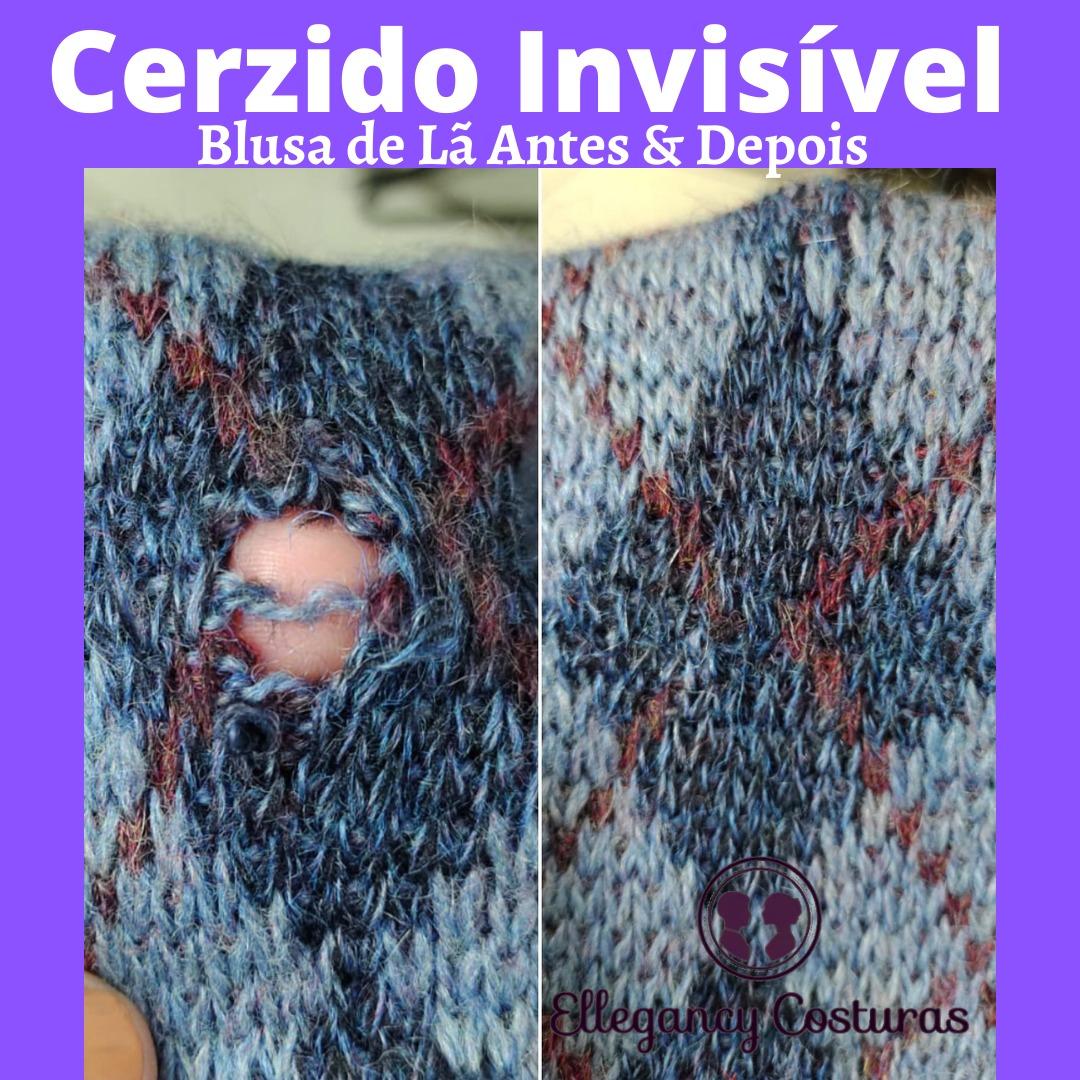 fechar furo em blusa de lã com cerzido invisível. Cerzideira sp