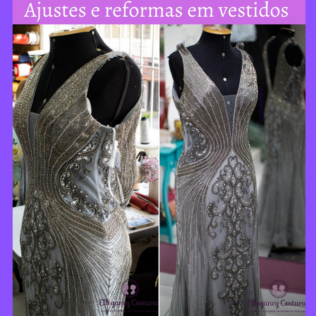 Ajustes e reformas em vestidos 1