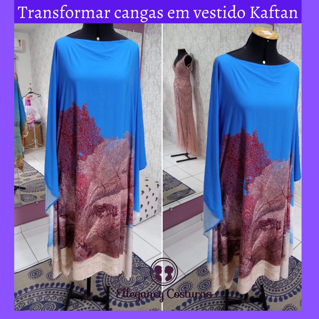 Transformar cangas em vestido Kaftan 1