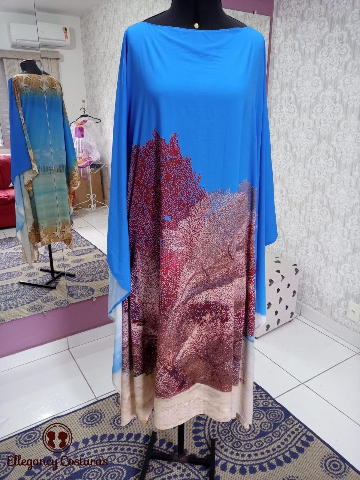 Transformar cangas em vestido Kaftan